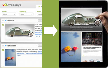 An example of how the Websays publisher can be used to create compelling content