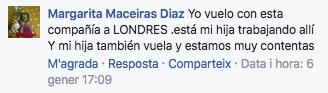 Comentario Español Facebook Ryanair