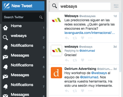 tweetdeck vs websays