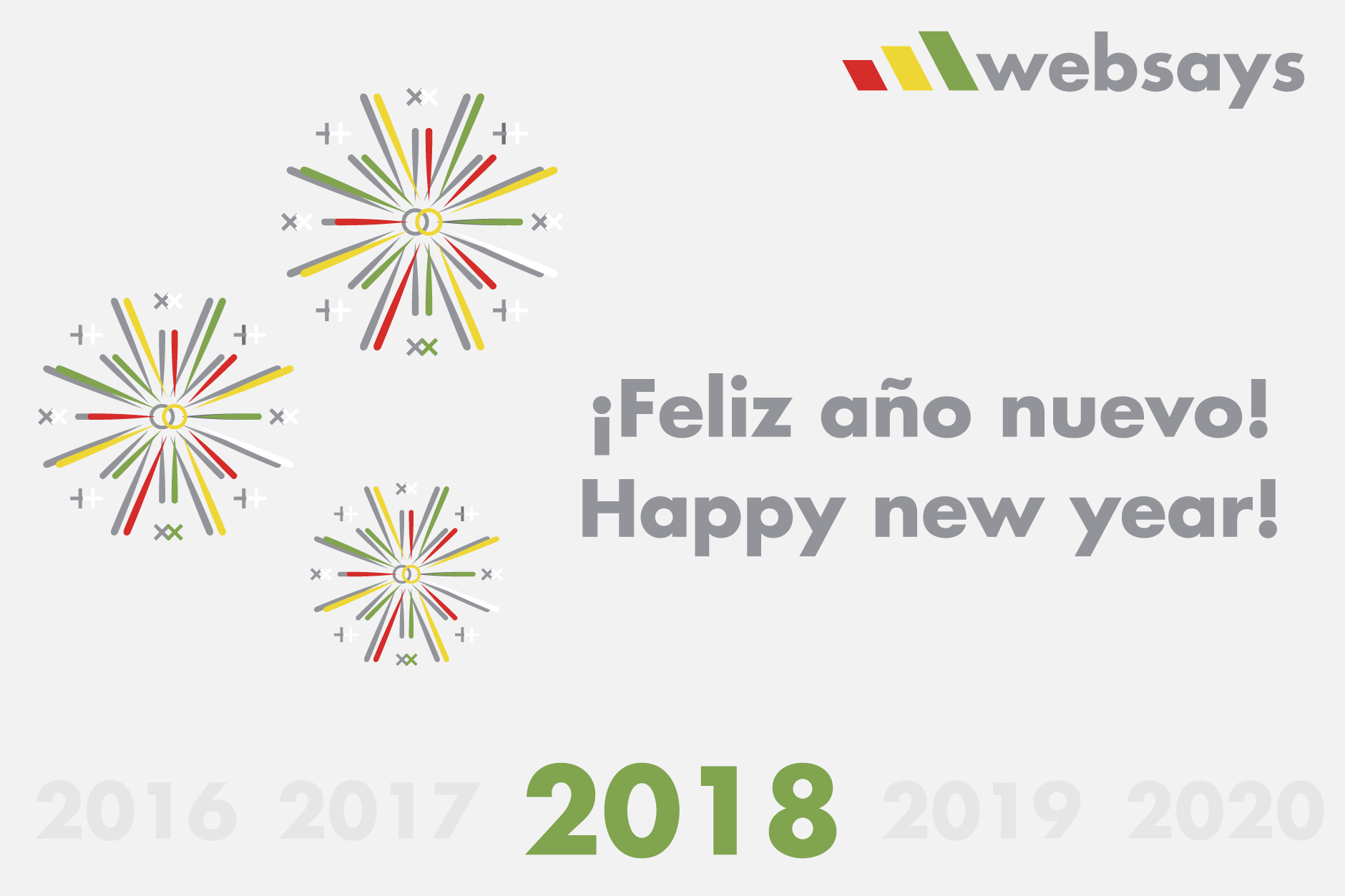 The Websays team wishes you a happy 2018! - Websays